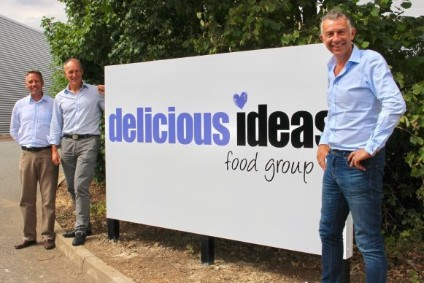 Trevor Sharpe, former Barnack MD (left), Rob Facer, former owner of Barnack, Jonathan Potter, CEO of Delicious Ideas (right)