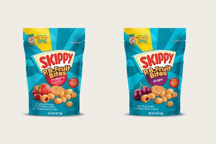 New Products: Hormel Foods unveils Skippy P.B. Fruit Bites; Kind makes sports nutrition debut with protein bars launch; Pioneer Food Groups Lizis moves into breakfast drinks; Chobani targets savoury with squeezy Greek yogurt product