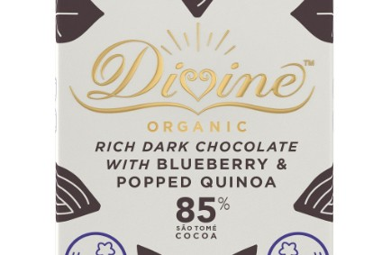 New Products - Divine Chocolate to launch new organic bars using Sao Tome cocoa; Aimia Foods links up with Levi Roots; General Mills extends Fibre One, Nature Valley ranges in UK; PepsiCos Quaker moves into chilled section with Morning-Go kits