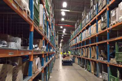 How far down the aisle? Fords UK parts distribution centre is vast