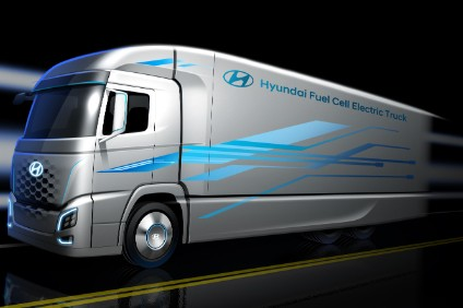 Hyundai has also released an image of a future hydrogen fuel-cell electric truck that is in development