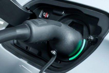 Peugeots PHEV charge ports have coloured LED surrounds to show charge status. Location is left rear wing