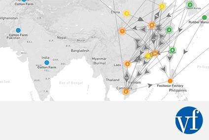 Vf Corps Source Maps Track Supply Chain Footprint Apparel - Us-track-map-it