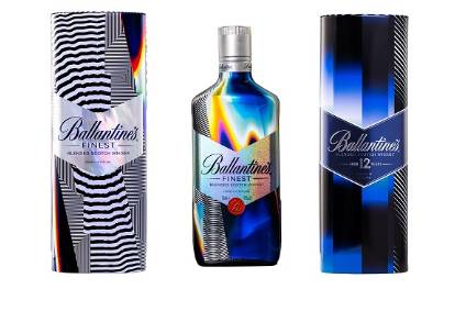 Then new Ballantines True Music series features three designs