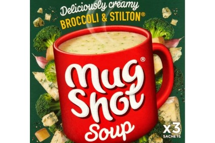 New products - Symingtons takes Mug Shot into soups; Mars Milk Snacks chilled desserts roll out; Hersheys puts namesake bar with Reeses candy; HKScan launches Kariniemen poultry products