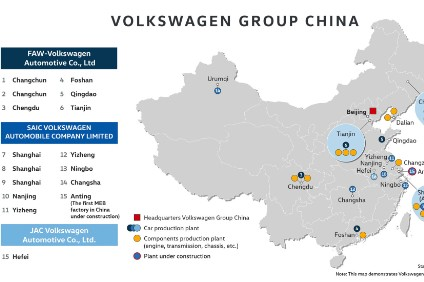 VW with its various joint ventures now has a vast production footprint across China, culmination of a strategy that began with Audi assembly decades ago