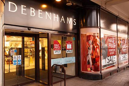 Debenhams collapsed into administration in April