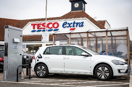 Here come the lecky VWs. The automaker already sells all-electric models like this Golf and the Up, has just committed to a large UK recharge network with the Tesco supermarket chain and has the ID EV range waiting in the wings