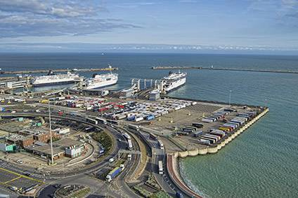 Space is rather tight at the port of Dover
