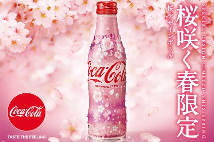 Coca-Cola rolls out cherry blossom bottles ahead of spring in Japan