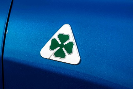 Quadrifoglio logos adorn the Stelvios sides, with the model name and Q4 on the tailgate