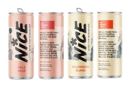 Nice's Pale Rosé and Sauvignon Blanc canned wines - Product Launch