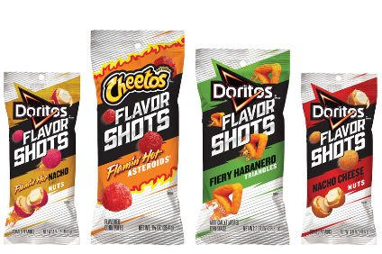 New products - PepsiCo debuts poppable Flavor Shots snacks under Cheetos and Doritos brands; Nestle launches Milkybar Mix Ups; Joe & Sephs enters confectionery with Popcorn Bites; Kerry Foods Cheeshapes