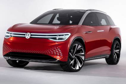Volkswagens ID Roomzz. The large SUV electric concepts design likely previews the  large ZEV SUV planned for China in 2021