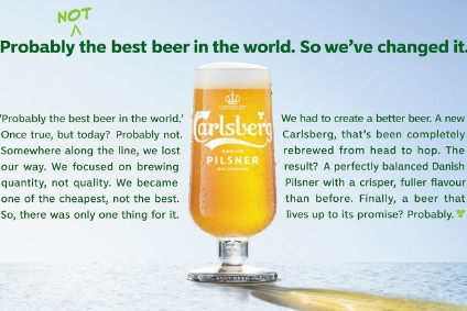 Carlsberg aims for clean slate with UK beer drinkers; admits lager