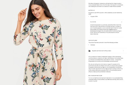 For each of its garments, H&M now shares details such as production country, supplier names, factory names and addresses as well as the number of workers in the factories