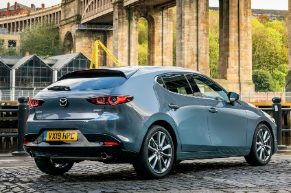 Mazda said redesigned 3 sales were strong, incentives were down and high grade models accounted for a higher ratio of sales