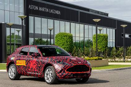 Aston Martin is still testing DBX prototypes