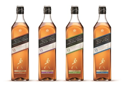 The Johnnie Walker Black Label Origin Series comprises four expressions from the whisky-producing regions of Scotland