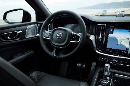 The tablet-style multimedia touchscreen takes centre stage on the Volvo S60 dashboard.
