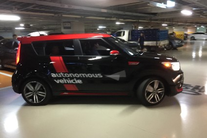 Kia demonstrated an autonomous vehicle prototype to UK media visiting the HMG R&D centre in 2016