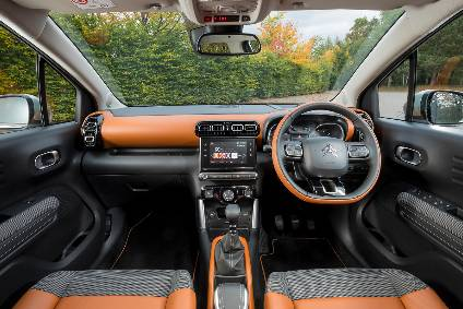 Citroën C3 Aircross: The touchscreen is used to operate the HVAC, radio, telephone and sat-nav controls.