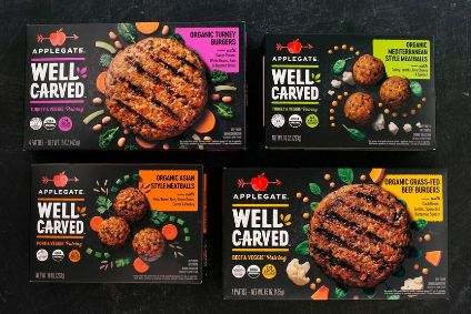 New products - Hormels Applegate Farms debuts Well Carved blended meat and veg line; The Meatless Farm makes first foray into frozen; Lantmannen shifts Americana brand into retail