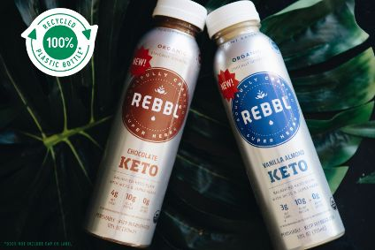 REBBL, which contains reishi, ashwagandha and maca, is launched in recycled plastic bottles.