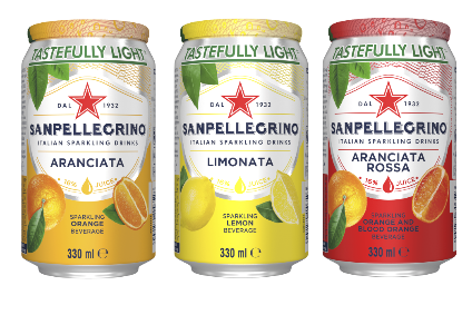 Sanpellegrino Tastefully Lights redesign is available in the UKs on- and off-premise