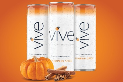 Vive Pumpkin Spice Hard Seltzer will be available from next month