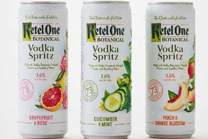 Ketel One Botanical Vodka Spritz is available in the same flavours as the 30% abv Botanical portfolio
