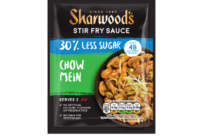 The new reduced-sugar sauces under Premier Foods Sharwoods brand