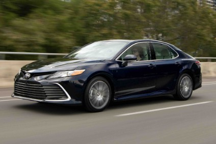 2021 Camry gains a new front end (XLE shown)
