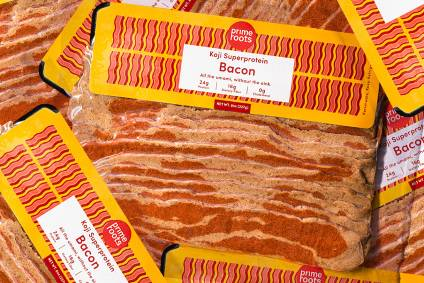 Prime Roots meat-free bacon, made using Koji through fermentation. Credit: Prime Roots