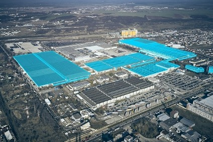 Fords Craiova factory footprint is outlined in blue
