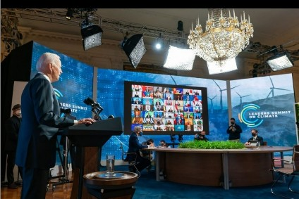 World leaders participate in President Biden's virtual summit on climate on 22 April 2021