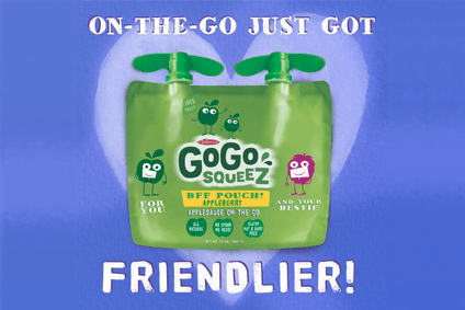 Sales of GoGo Squeez in the US rose to match that seen in France last year
