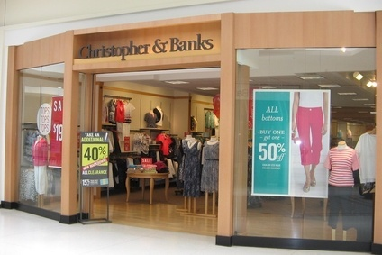 Christopher & Banks now expects third-quarter net sales to be between $114m and $118m
