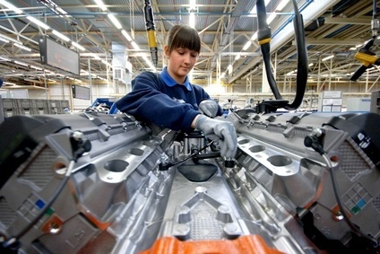 Engine assembly by Ford at Bridgend. The UK has seen car and engine manufacturing rising strongly in recent years - much of it exported to other EU countries.