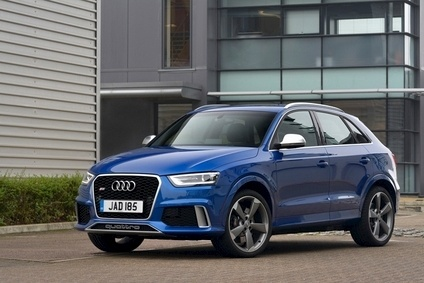 The RS Q3 has unique bumpers, a black high-gloss honeycomb grille and Xenon Plus headlights