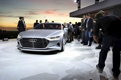 The Audi prologue concept takes to the stage at the 2014 LA Auto Show