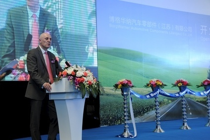 James R. Verrier, President and CEO of  BorgWarner, at the opening ceremony for the companys second Chinese turbocharger plant