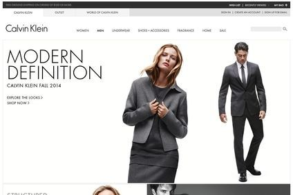 Calvin Klein plans to have an online presence in over 20 countries by the end of 2016