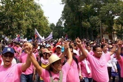 Sharp fall in Cambodia garment strikes in 2014