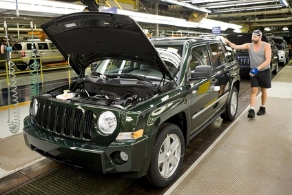 Although Renegade, already made in Italy in Brazil, might be a contender, just-auto believes planned C-SUV to replace current Compass and Patriot (file photo, at FCA Belvidere plant) is the most likely model for initial Indian Jeep production in 2017