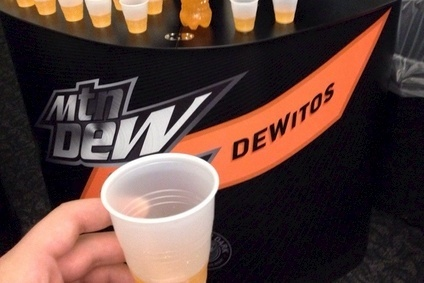 PepsiCo is trying out a Doritos-flavoured Mountain Dew drink at US colleges (photo by Steve Barnes/Reddit)