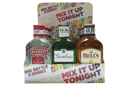 "Diageo has already changed the design of the ""mix it up tonight"" display"