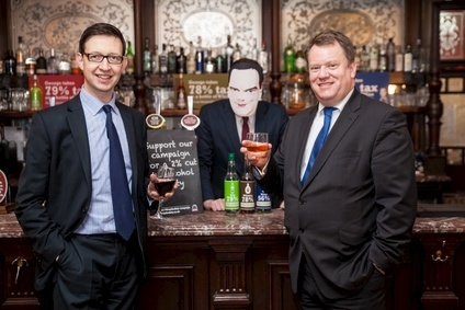 Miles Beale (left) and David Frost (right) launched the Drop the Duty campaign in London today