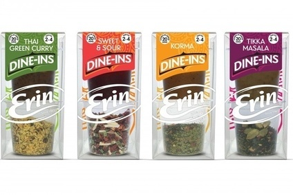 Valeo has launched the Erins Dine-Ins range of cooking pastes