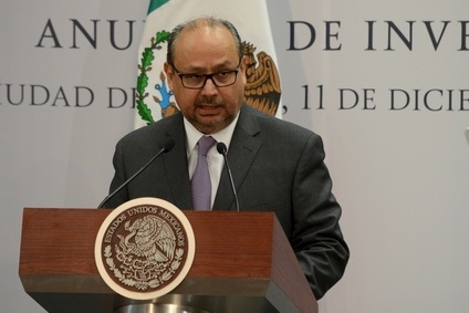 GM Mexico president Ernesto Hernandez announces the additional $3.6m spend at the Mexican presidents residence